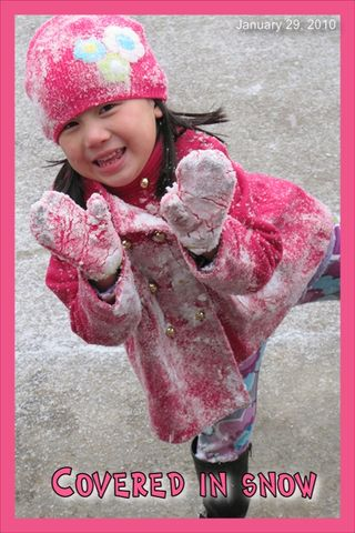 Snow covered girlsm